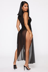Beach Pleasure Swim Cover Up - Black