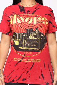 The Doors Hollywood Bowl Top - Red/Black