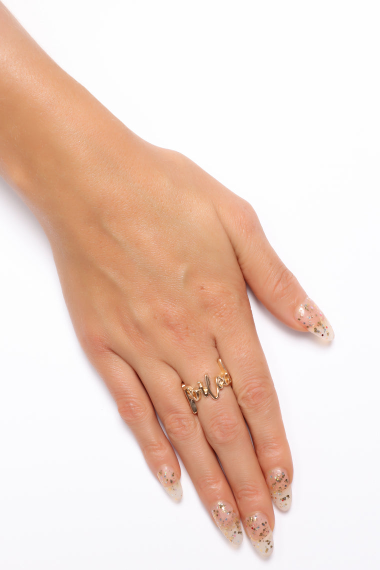 Spoiled Metal Twist Ring - Gold