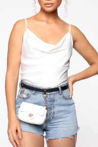 Expensive Taste Fanny Pack - White