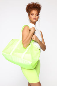 Girl On The Run Duffel Bag - Lime