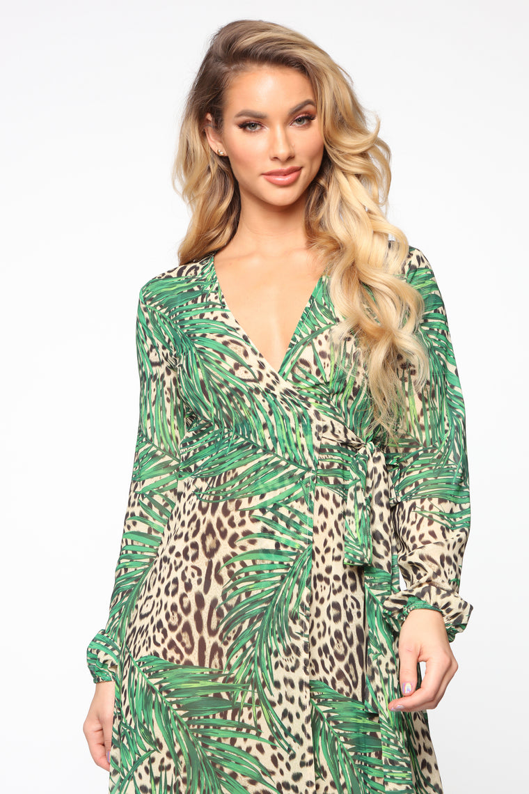 Please Don't Bother Maxi Dress - Green/Combo