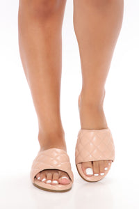 Summer Socialite Flat Sandals - Nude Angle 1