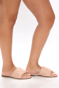 Summer Socialite Flat Sandals - Nude Angle 2