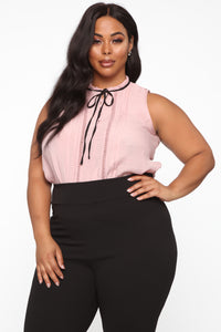 Straight To Business Top - Blush