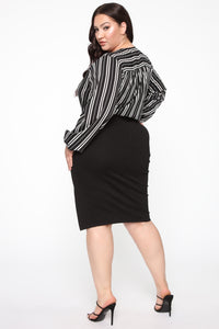 Kristy Midi Skirt - Black