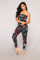 Recreation Floral Jumpsuit - Navy