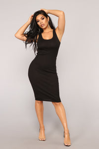 Love All Of Me Midi Dress - Black Angle 1