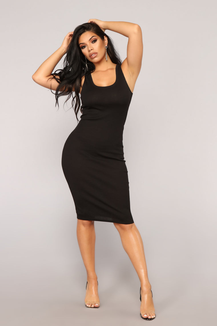 Love All Of Me Midi Dress - Black