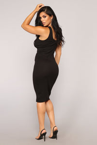 Love All Of Me Midi Dress - Black Angle 3