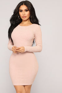 Kiss So Sweet Lurex Dress - Blush