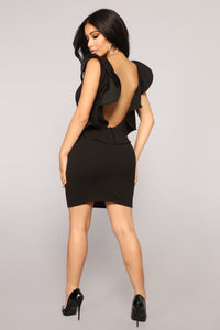 Rosie Ruffle Dress - Black