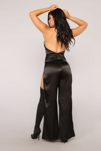 You Know I Love You Jumpsuit - Black