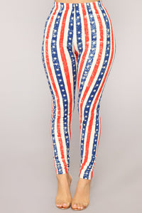 Show Your Pride Print Leggings - MultiColor