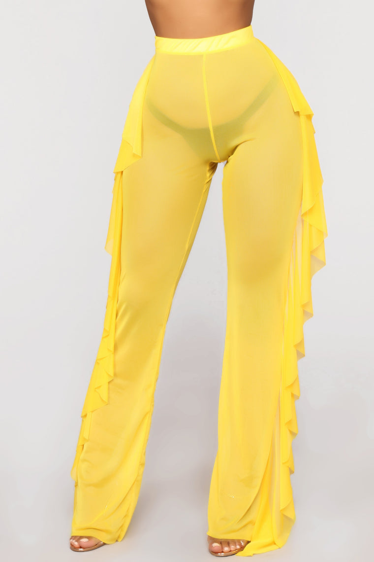 Sunshine Sister Coverup Pant - Yellow