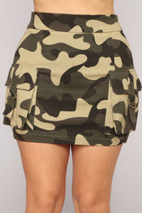 Changes Camo Skirt - Olive Camo