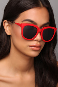 Jet Lag Sunglasses - Red