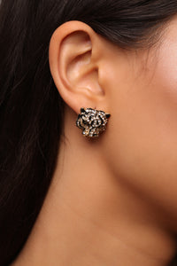 Easy Tiger Stud Earrings - Gold/Black