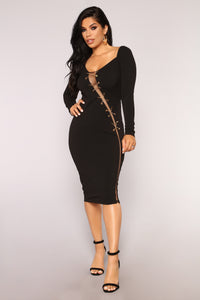 Came Across The Club Dress - Black