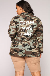 Too Glam For You Jacket - Camo