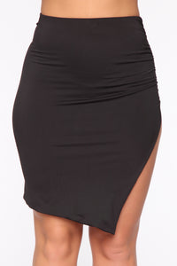 Cut It Up Cutie Skirt Set - Black