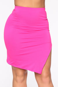Cut It Up Cutie Skirt Set - Fuchsia Angle 6