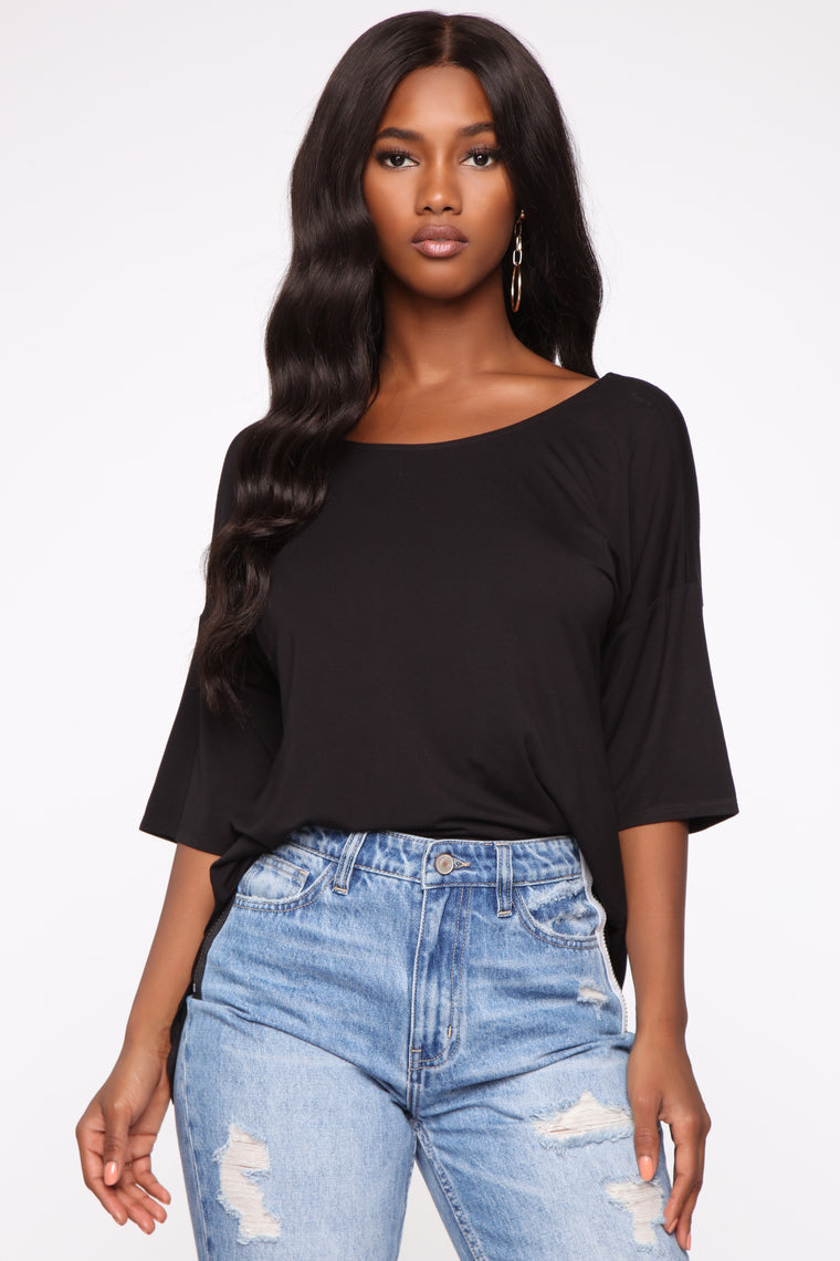 Twisted Up Top - Black