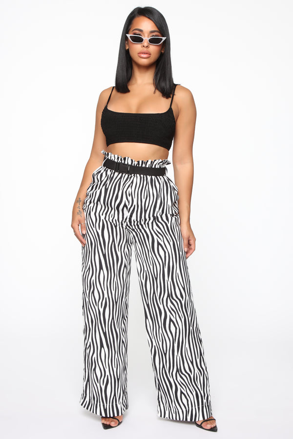 56c6c77cd3bfd You Found Me Belted Pants - Black/White