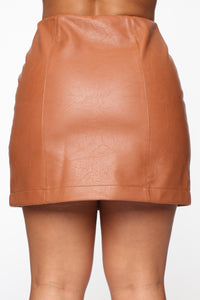 I'm Feeling You Mini Skirt - Tan Angle 6