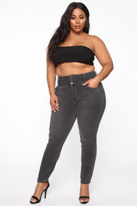 Not Your Girl II Skinny Jeans - Charcoal