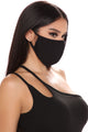 Necessary Solid Face Mask - Black