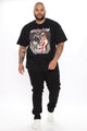 Dr. Feel Good Split Face Short Sleeve Tee - Black/combo