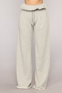 Paper Bag Vibe Pants - Grey
