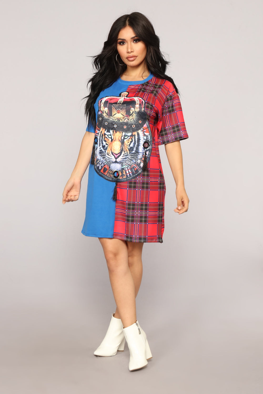 Royal Lioness Tunic - Blue/Multi