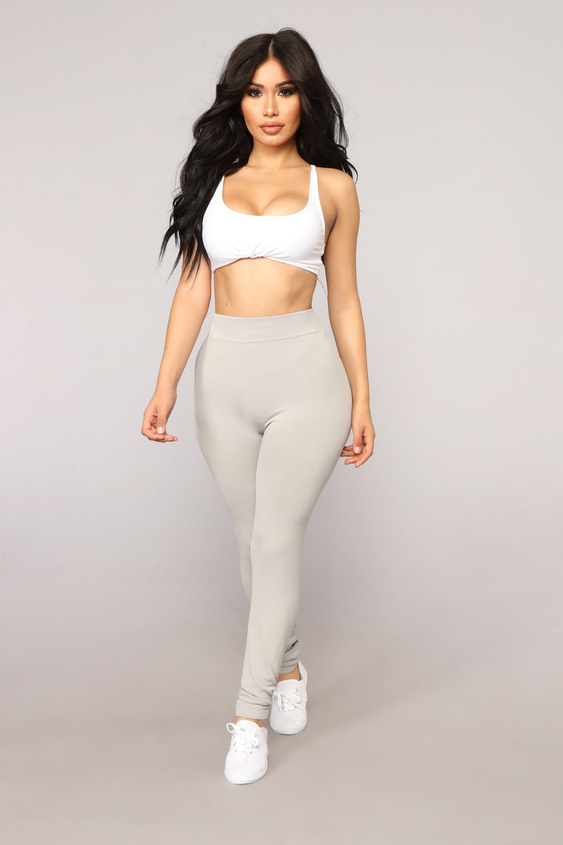 Underneath Everything Layering Leggings - Grey