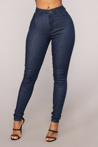 Bella High Rise Skinny Jeans - Dark Denim