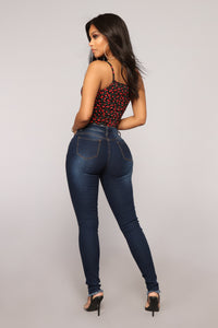 When Things Goin' Good Distressed Jeans - Dark Denim