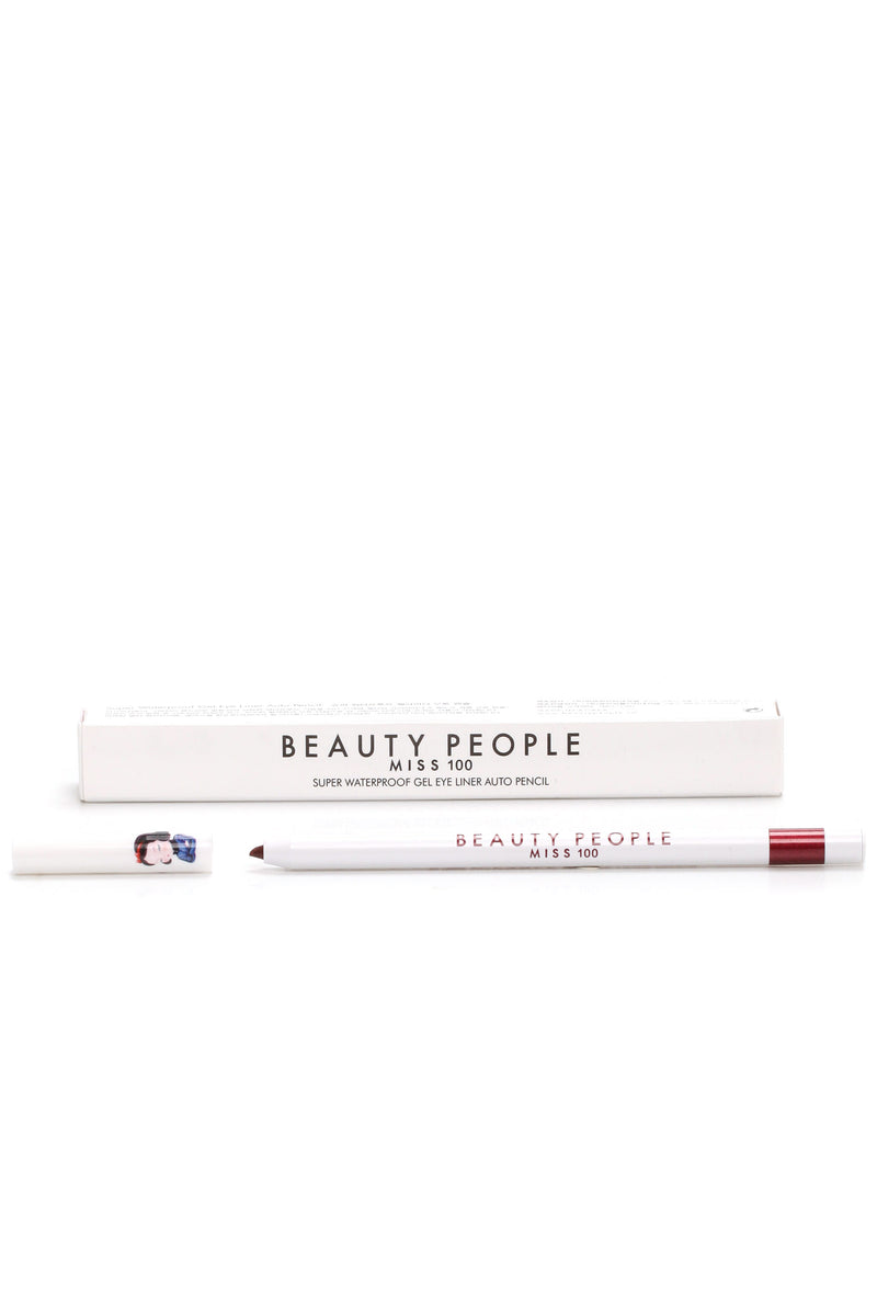 Beauty People Super Waterproof Gel Liner - Glimmer Burgundy