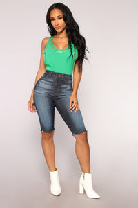 Outta Sight Bermuda Shorts - Dark Denim