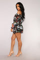 Super Flower Romper - Black