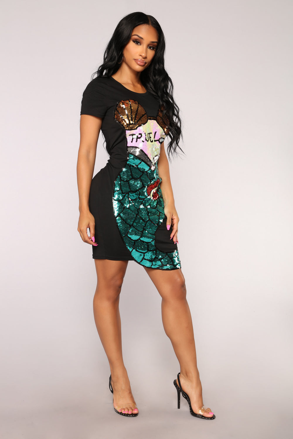 True Love Sequin Tunic - Black