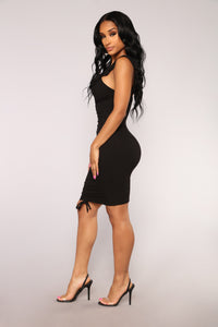 Hanoi Ruched Dress - Black