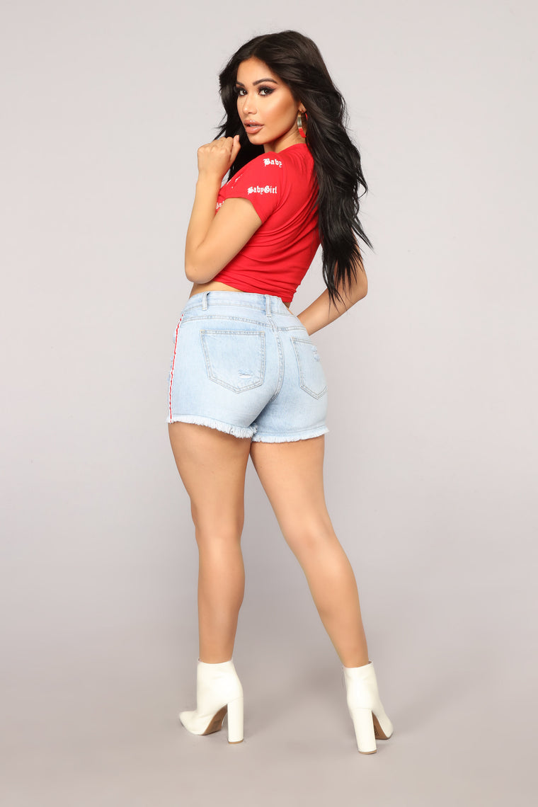 Baby Girl Bad Top - Red