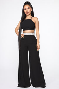 Still Shining Pant Set - Black