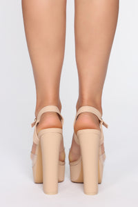 Nice Touch Heeled Sandals - Nude
