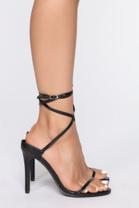Why Continue Heeled Sandal - Black