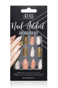 Ardell Nail Addict - Pink Marble & Gold Angle 1