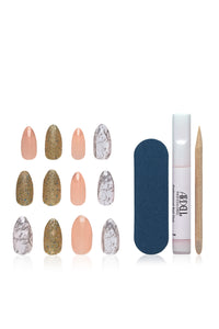 Ardell Nail Addict - Pink Marble & Gold Angle 2