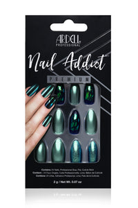 Ardell Nail Addict - Green Glitter Chrome