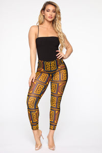 Own The Place Mesh Flare Leggings - Yellow/Combo